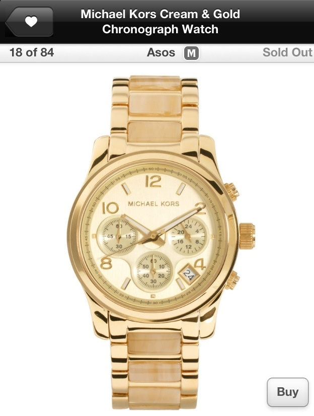 Michael Kors: Gold Chronograph, Cream Gold, Asos, Style, Michael Kors, Fashion Accessories, Kors Cream, Chronograph Watches, Kors Chronograph