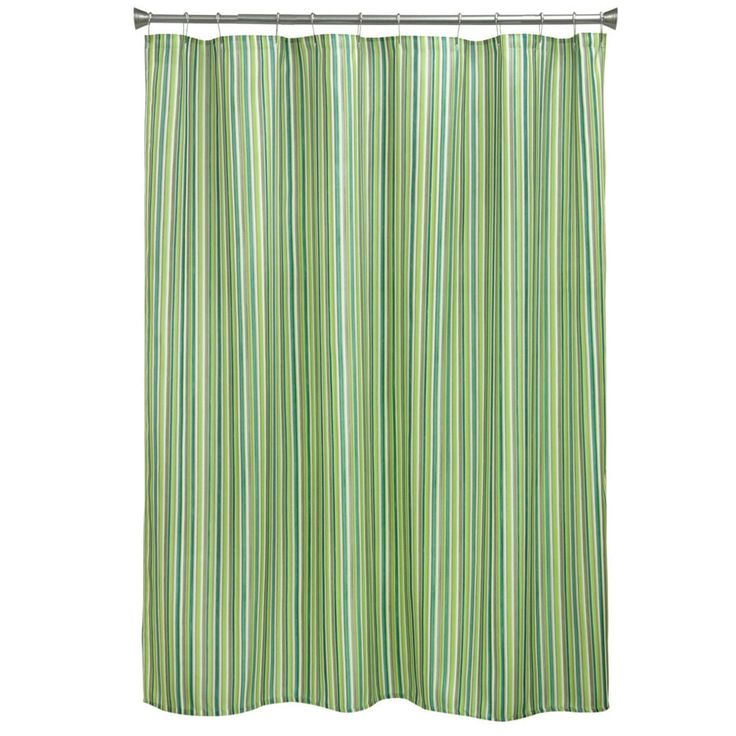 Sea Stripe Fabric Shower Curtain | Overstock.com Shopping - The Best Deals on Shower Curtains