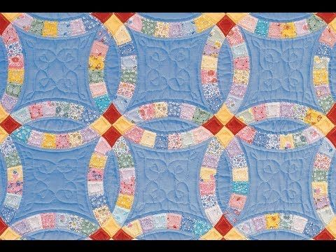 Double Wedding Ring Quilt video by Sharlene Jorgenson - YouTube very good instructions, I am working on my 5th wedding ring from her templates