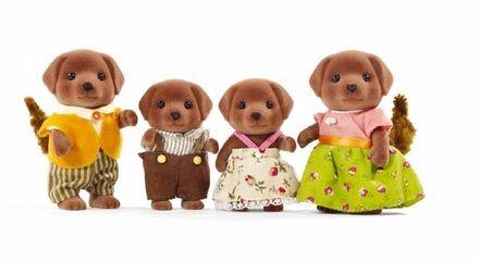 Chocolate Labrador Family|Calico Critters