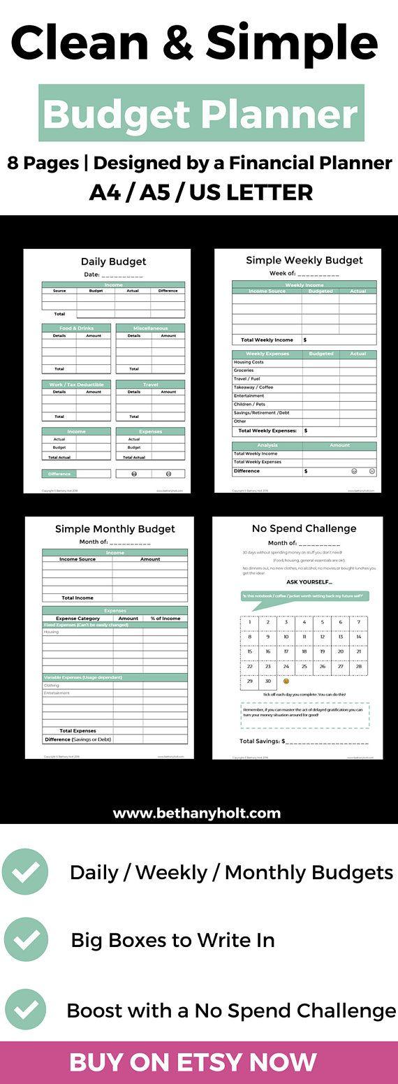 Printable Budget Budget Template Budget Planner Monthly Etsy Budget Planner Budget Planner Template Budget Printables