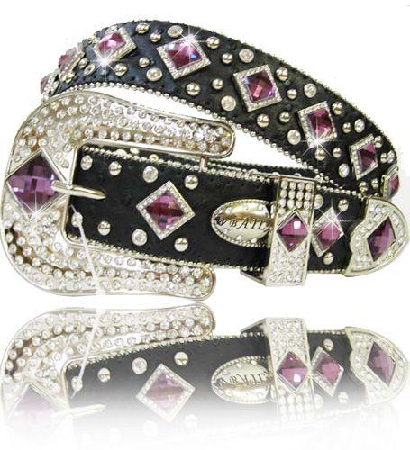 Purple Belts for Women | Details about PURPLE DIAMOND RHINESTONE BUCKLE WESTERN COWBOY GIRL ...