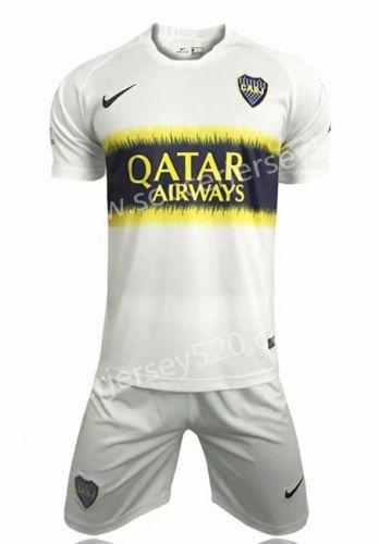 007667c66 2019 的 2018-19 Boca Juniors Away White Soccer Uniform 主题 ...