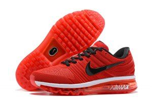 860ed2e6a3a Mens Nike Air Max 2017 KPU Sneakers October Red Black White 849560 ...