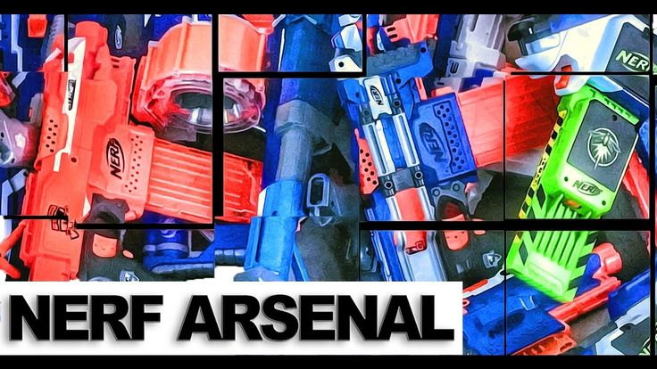 NERF ARSENAL 2K16 - OVER 200 BLASTERS! The Official Nerf Gun Attachments Collection, Winter 2016