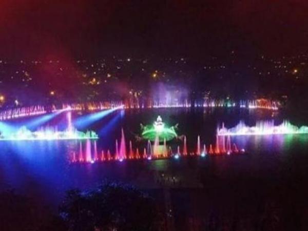 Cantiknya Taman Air Mancur di Kota Purwakarta