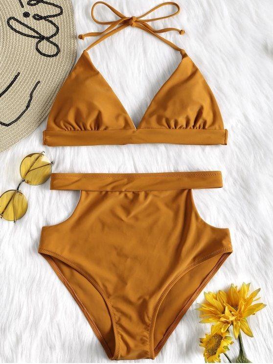 3b96b2c5f040 Cut Out High Waisted Bikini Set en 2019 | Summer Swimsuit ...