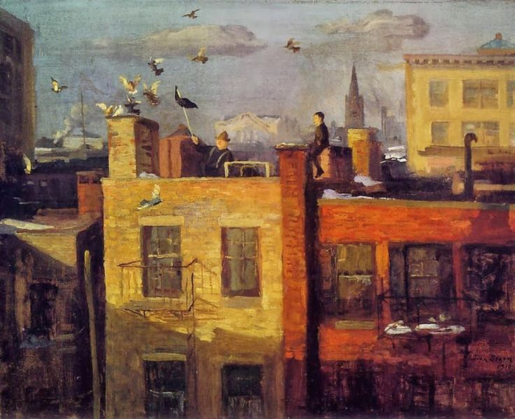 "Ferdi Stam on Twitter: ""John Sloan - Pigeons (1910) Museum of Fine Arts, Boston, USA #art #painting #cityscape #artist #twitart #artwit http://t.co/mfccmTCdJY"""