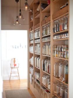 Pantry: Ideas, Dreams Pantries, Open Shelves, Organizations Pantries, Glasses Jars, Kitchens Pantries, House, Mason Jars, Pantries Storage