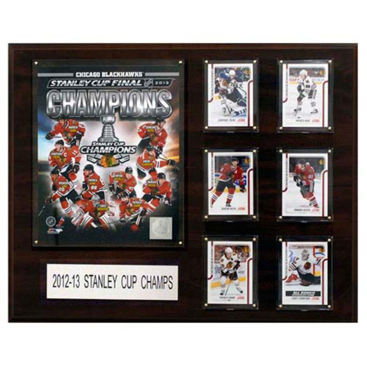 C and I Collectables NHL 20W x 16H in. Chicago Blackhawks 2012 - 2013 Stanley Cup Champions Plaque with Cards - 1620SC13