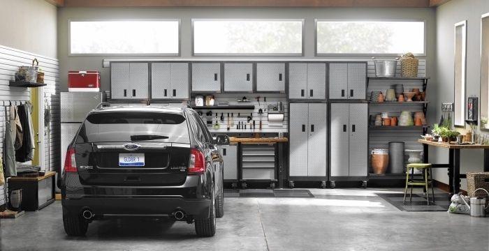 1001 Exemples D Amenagement Garage Fonctionnel Amenagement Garage Garage Moderne Armoire Garage