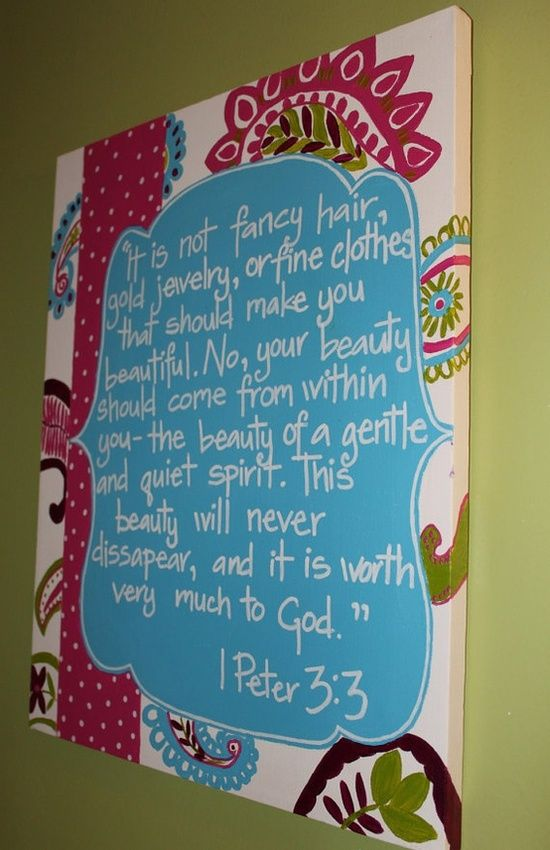 What a great bible verse to have a little girl see every day in her room... Must make this!!