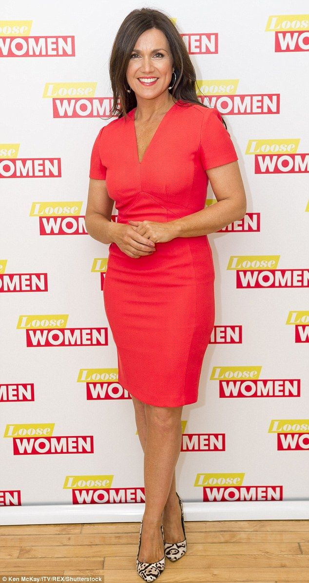 Susanna Reid shows off her sensational shape in a coral dress