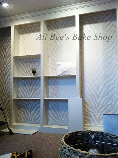 Craft Room   **Wall Paper, Then Shelving...love It!