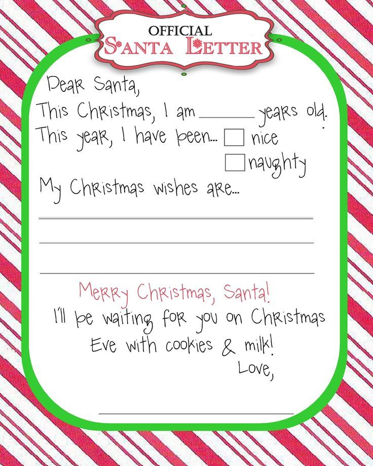 Image result for letter to santa template free