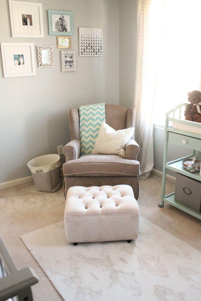 Farben für Babyzimmer. Mint mit grau und creme