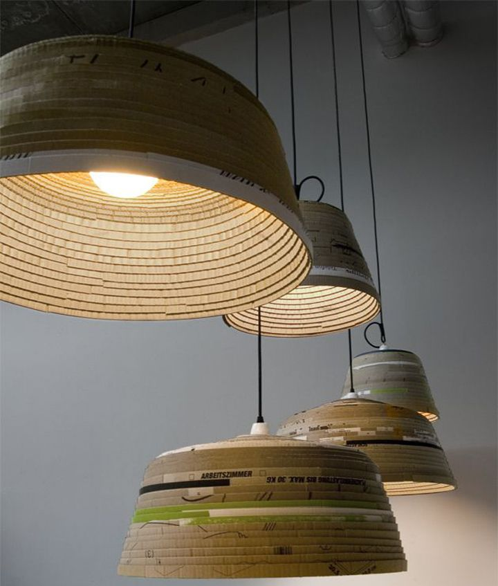 Delightful Michael Wolke: Cardboard Lamp German Designer Michael Wolke Creates This  Amazing Line Of Recycled Pendant Lighting. His Beute Lamp Is Hand Made From  ... Idea