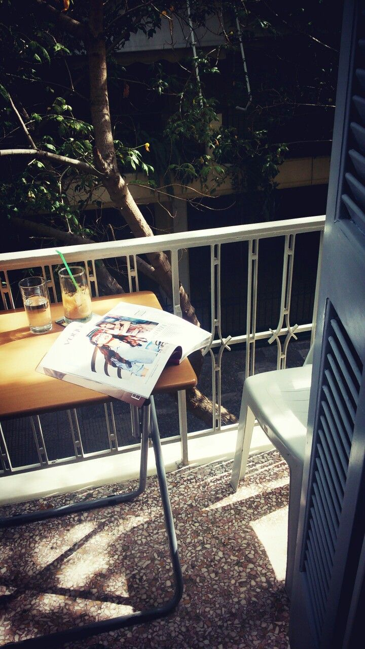 Balcony coffee time.. #Athens   My most precious  memories were born in this balcony. Love it ♥