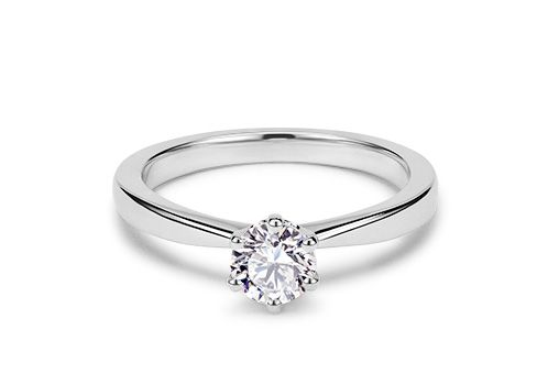 Handcrafted solitaire engagements rings made with a diamond of your choice. Shop online today and choose from the world's largest selection of certified diamonds from 77 Diamonds.