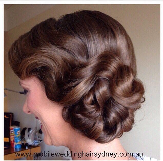 Vintage   wedding hairstyle by www.mobileweddinghairsydney.com
