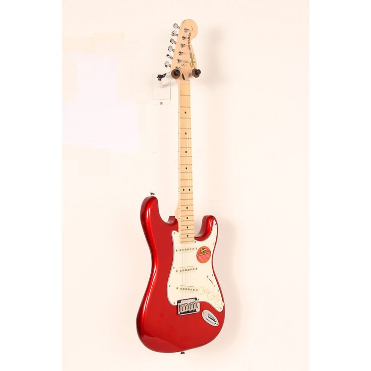 Squier Standard Stratocaster Electric Guitar Candy Apple Red,Maple Fretboard 888366036792