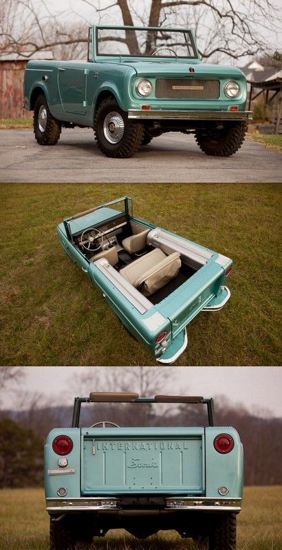 I have seen one of these on the road and I thought I was crazy, but I was totally right. A convertible truck! How amazing!