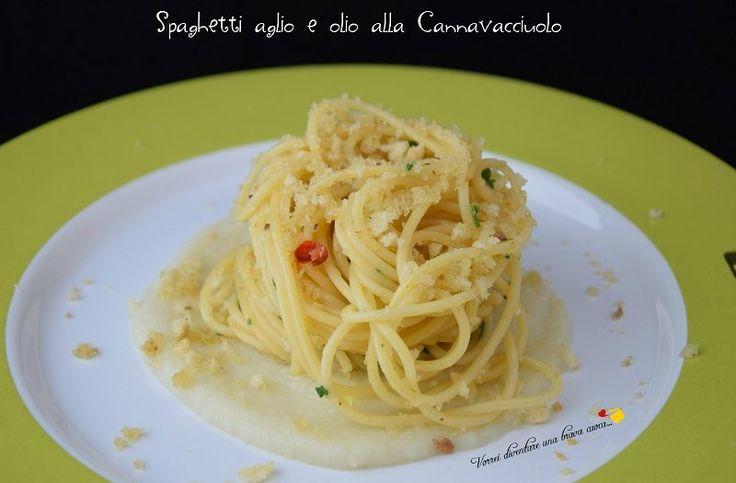 Spaghetti aglio e olio alla Cannavacciuolo che è un famosissimo chef italiano