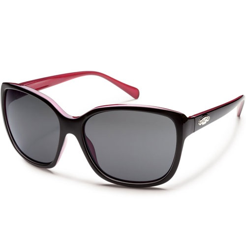 Suncloud Cayenne Polarised Womens Sunglasses Black Back Paint ~ Grey available now at Blackleaf.com #Suncloud #sunglasses #fashion