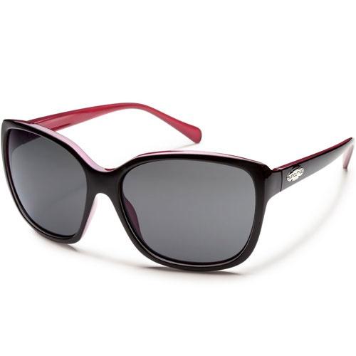 Suncloud Cayenne Polarised Womens Sunglasses Black Back Paint ~ Grey available now at Blackleaf.com #Suncloud #sunglasses #fashion