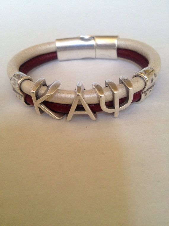 Hey, I found this really awesome Etsy listing at https://www.etsy.com/listing/198915348/kappa-alpha-psi-leather-bracelet
