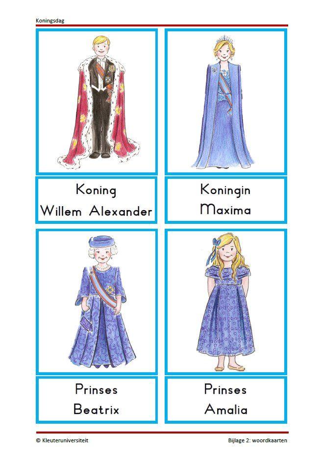 Grote woordkaart van het koninklijk huis