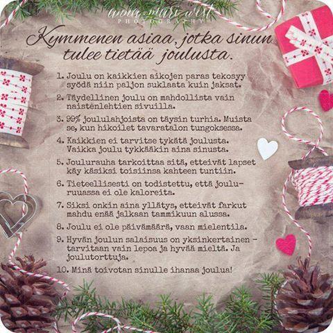 Kymmenen asiaa, jotka sinun tulee tietää joulusta