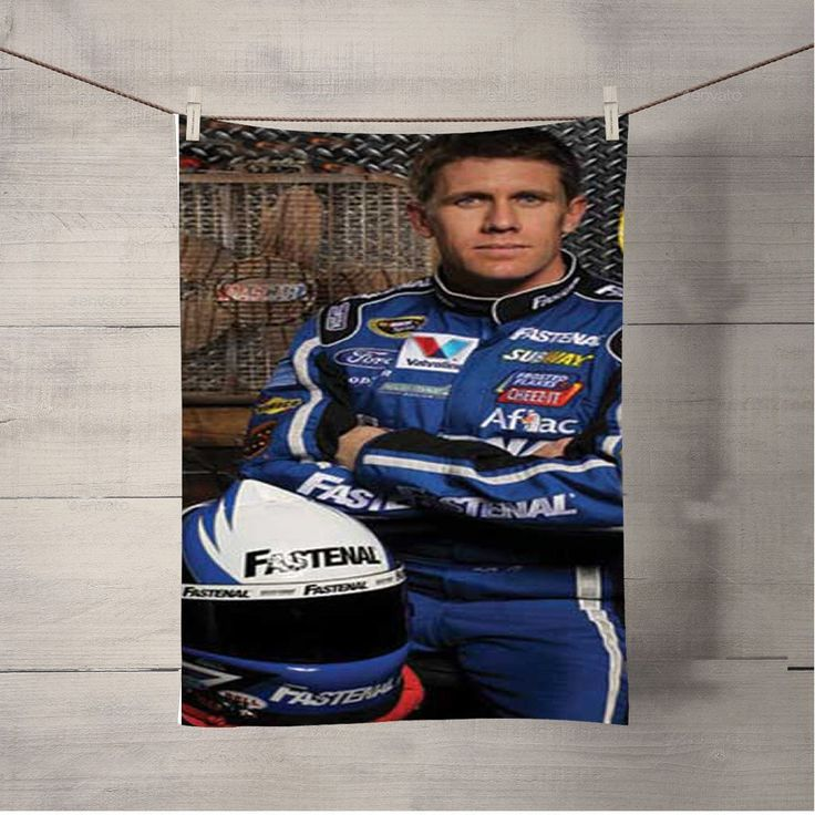 Nascar Carl Edwards Arms Folded Bath Towel Beach Towels