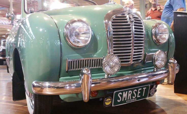 Custom plate SMRSET on display at the 2014 Motorclassica.