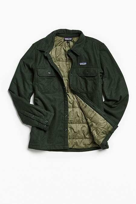 Патагония Фьорд Изолированная фланелевая куртка