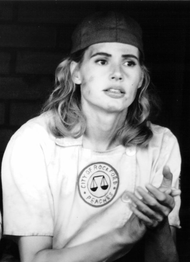 Gorgeous Geena Davis in A League of their Own. Dottie Henson = one of my first on-screen role models.