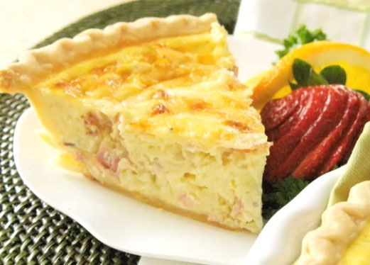 Quiche with ham and cheese #Recipe #Quiche #Cheese #Ham #Food