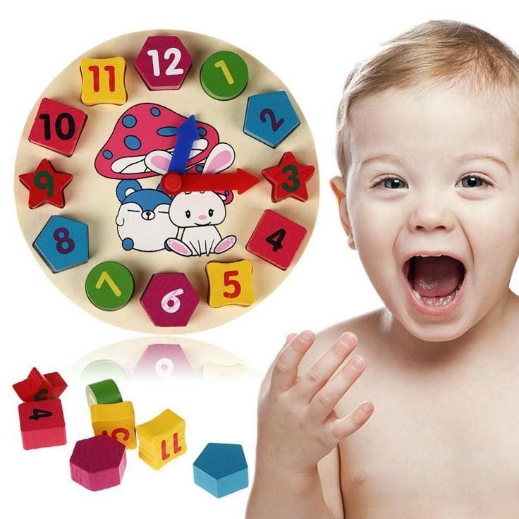Wooden Colorful Puzzle Clock Baby Educational Wood Toy Kids Children Toys Learn #JOCESTYLE #Clock