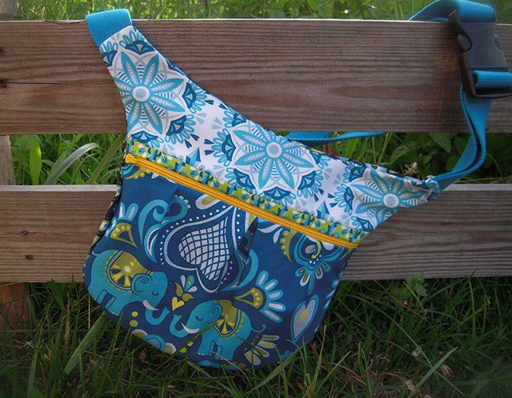 banane/poche ceinture ethnique bleue/verte réglable femme : Etuis, mini sacs par mambo-kiwi