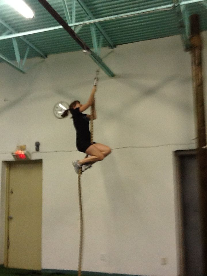 Climbing the ropes in gym class