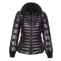 Moncler Lierre Sweater Collar Jackets Women Down Brown