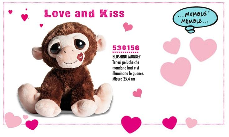 È tempo di Coccole!! A #SanValentino regala una dolcissima Scimmietta Mandabaci!  Una simpatica e tenera scimmietta da stringere e coccolare! Un #regalo ideale per gli innamorati!