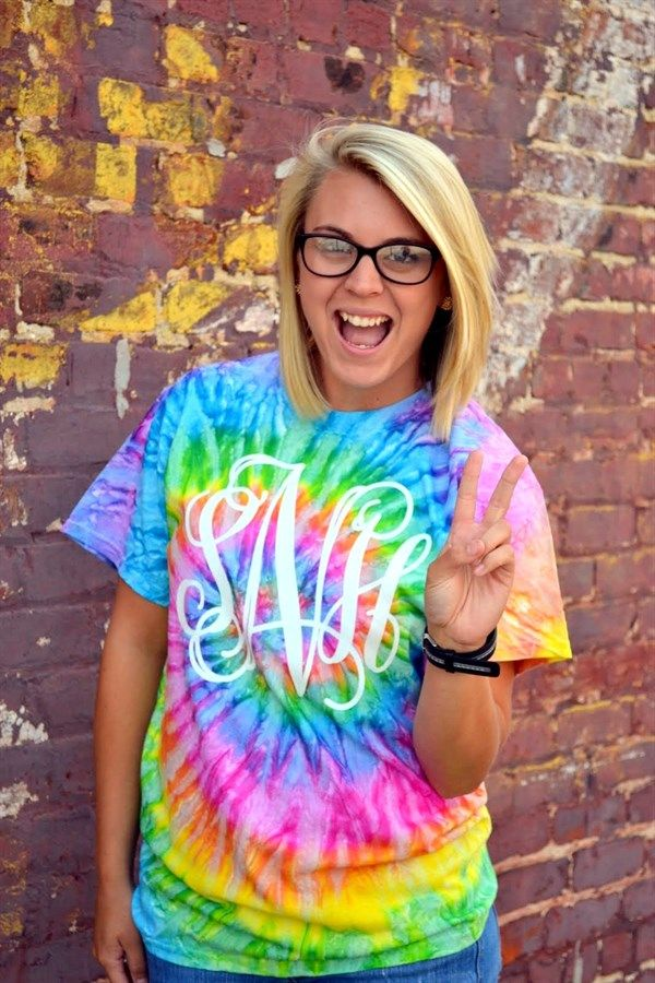 Use heat transfer materials on a tie dye shirt for a great looking one color job.