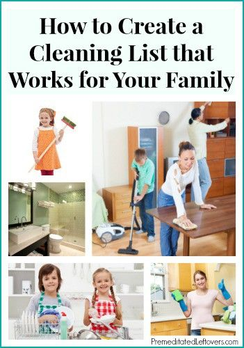Creating Your Own Cleaning List - How to get organized and create your own cleaning schedule including daily chores, weekly chores, and monthly tasks.