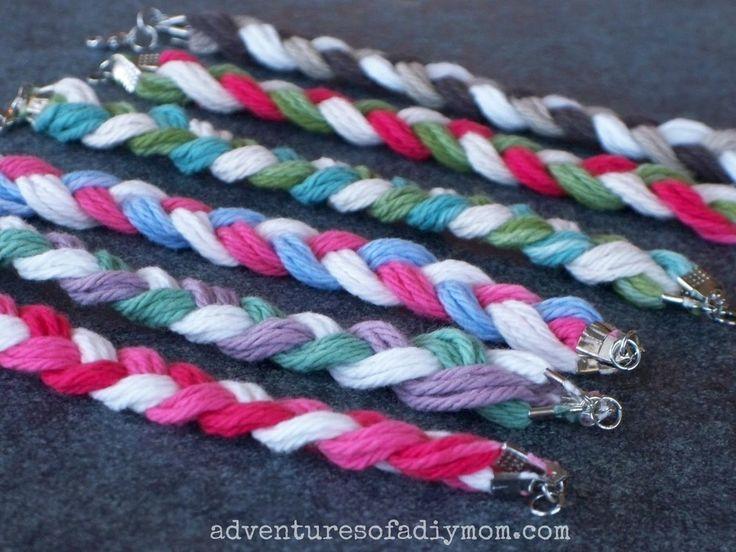 Braided Yarn Friendship Bracelets
