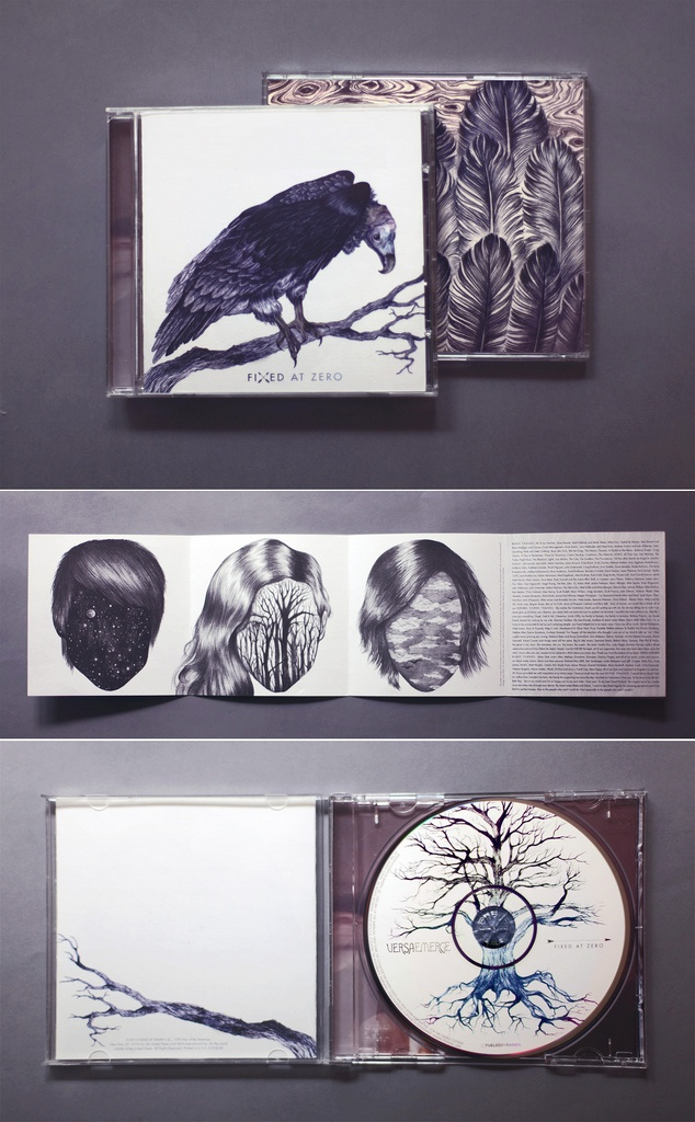 CD cover by Eibatova Karina, is very complex and detailed. I like they fact they the black, dark and gothic like runs through the cd case, and the cd.