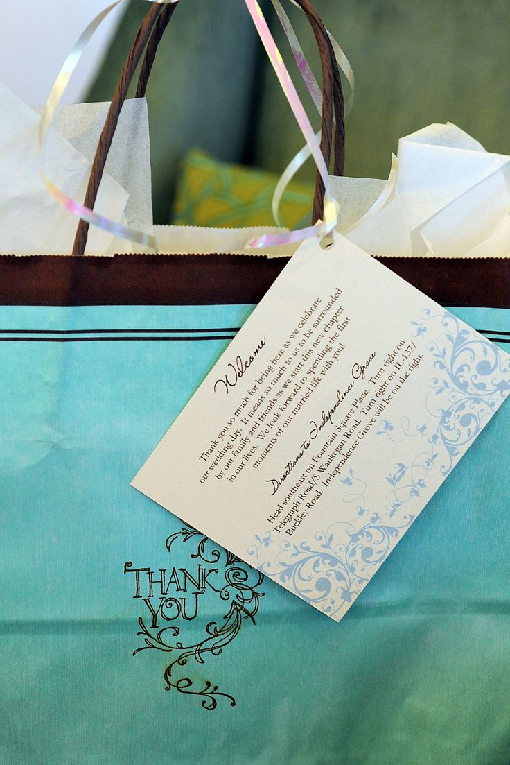 hotel welcome bags for wedding guests