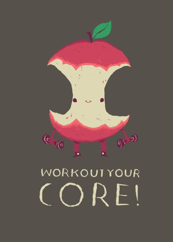 Workout Your Core Metal Poster Print Louis Roskosch Displate In 2021 Healthy Eating Posters Workout Memes Poster Prints