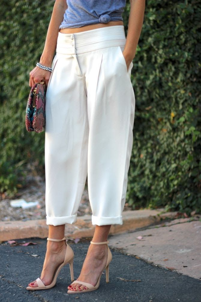 Slouchy Trousers - i think these would actually be slimming, esp in black.