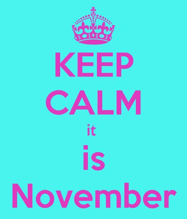 KEEP CALM it  is November